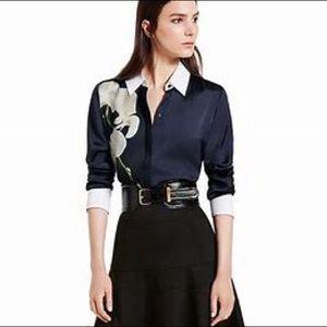 Altuzarra for target orchid button up blouse S